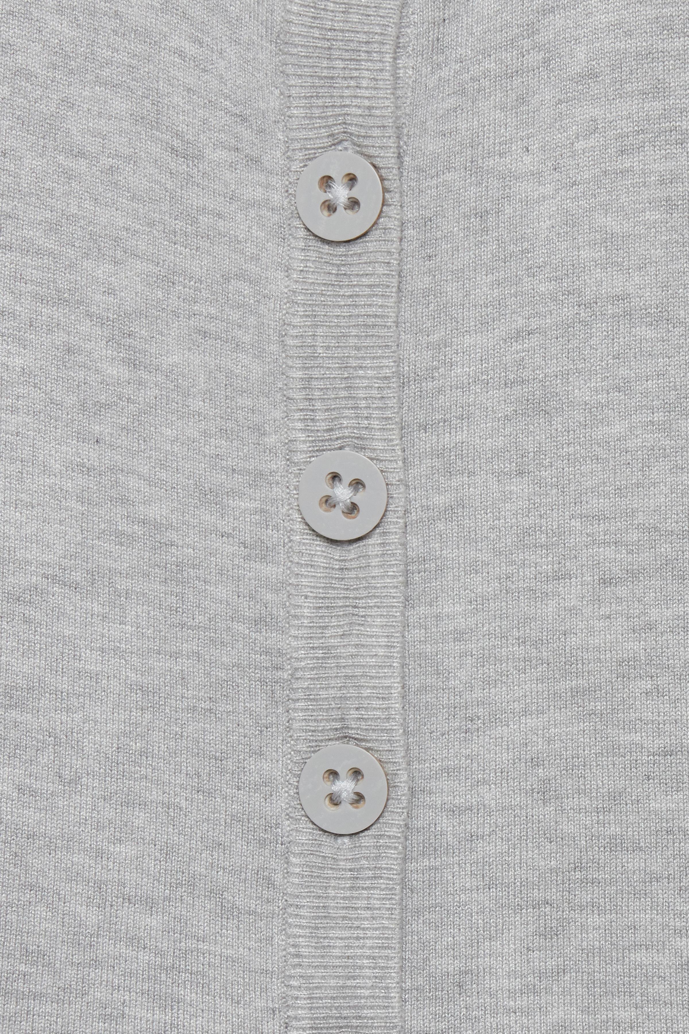 Light grey melange Strikcardigan – Køb Light grey melange Strikcardigan fra str. XS-XXL her