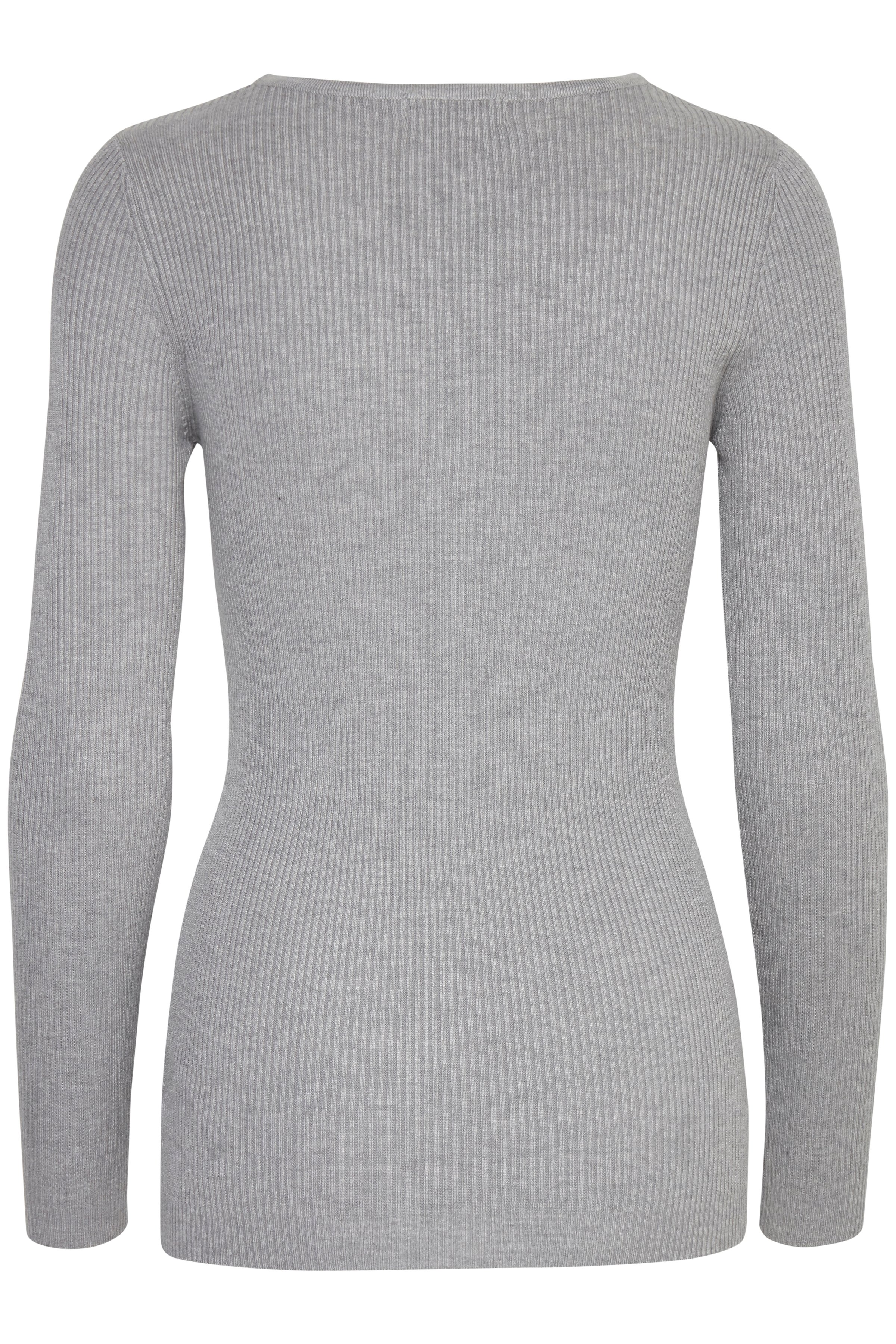 Light grey melange Strikpullover – Køb Light grey melange Strikpullover fra str. XS-XXL her